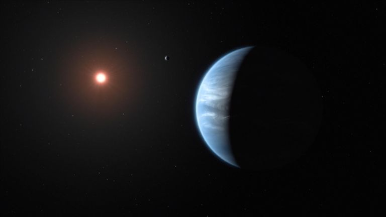 The unprecedented detection was made on K2-18b, which is eight times the mass of our home world