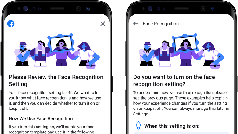 Users will have to opt in to the use of facial recognition