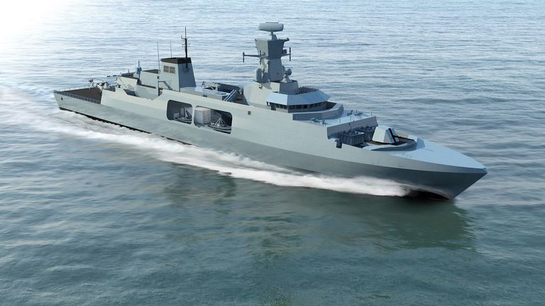 BAE Systems concept for the Leander class Type 31 frigate Pic: BAE Systems