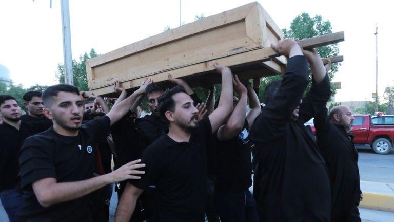 Funeral after stampede in Kerbala