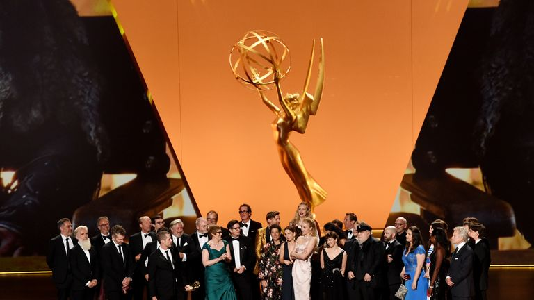Game Of Thrones wins best drama series at the Emmys