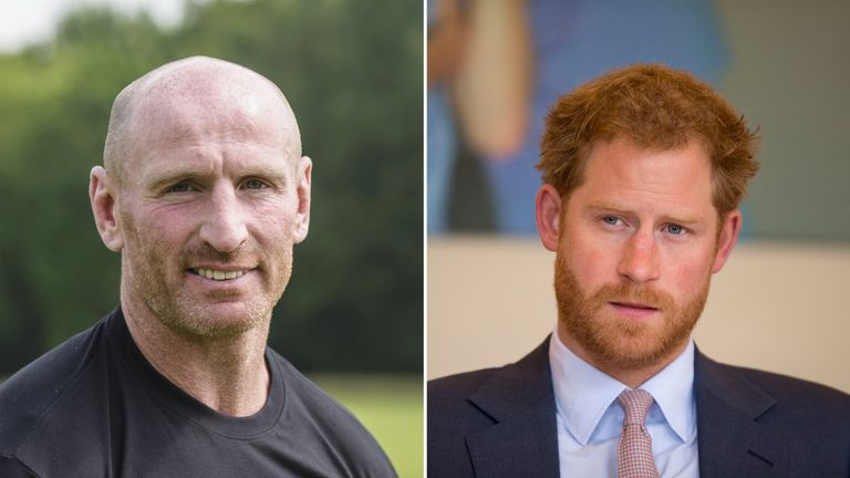 Gareth Thomas and Prince Harry will work together