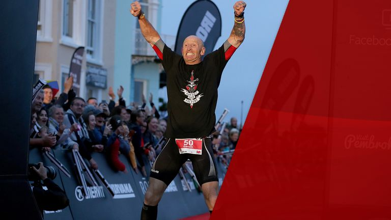 Gareth Thomas told of his diagnosis hours before his Ironman competition