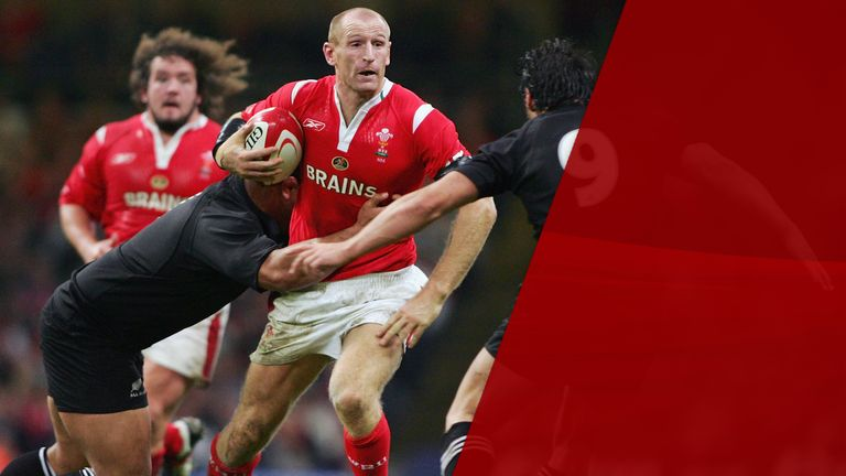 Gareth Thomas is Wales' second highest all-time try scorer