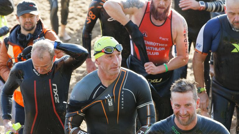 Gareth Thomas in Iron Man race