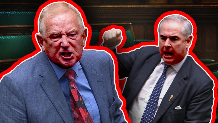 Barry Sheerman and Geoffrey Cox clashed in a heated exchange in the Commons
