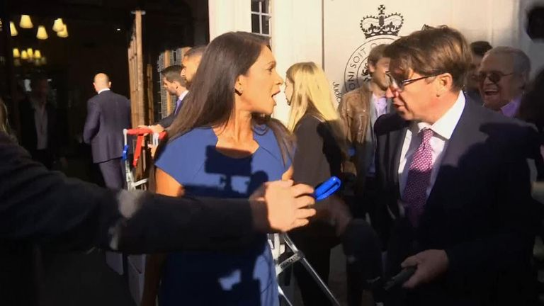 Legal activist Gina Miller, one of the campaigners fighting parliament's suspension spoke to Sky News as she arrived at court