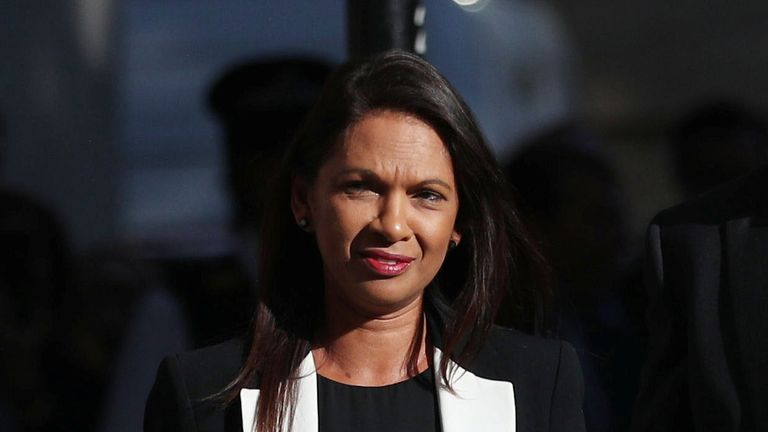 Campaigner Gina Miller arrives for the Supreme Court of the United Kingdom hearing on Prime Minister Boris Johnson's decision to prorogue parliament