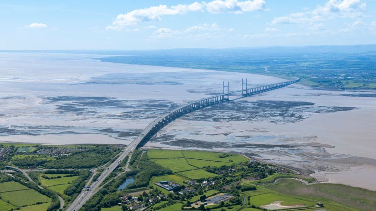A person was reportedly swept away by the River Severn