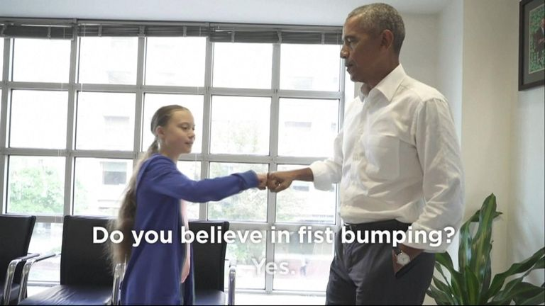 Greta Thunberg and Barack Obama are 'a team'