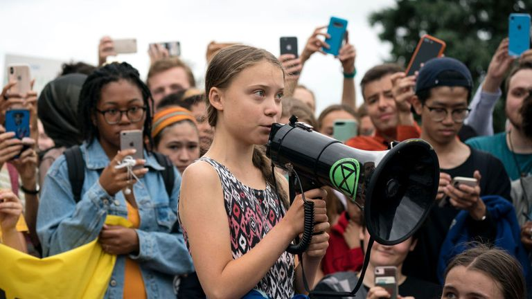 Greta Thunberg started a Friday school strike last year