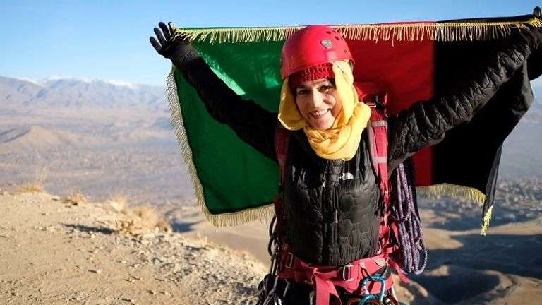 Hanifa Yousoufi climbed her country's highest peak, Mount Noshaq, in August 2018. Pic: Ascend