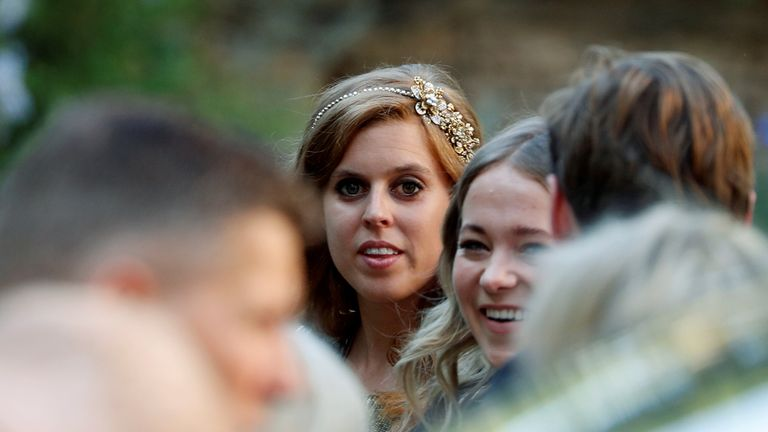 Princess Beatrice was among the bridal party