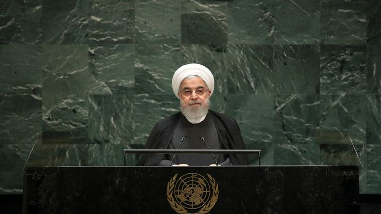 Iranian President Hassan Rouhani levelled criticism against the US
