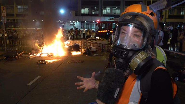 Alex Crawford reporting from Hong Kong still