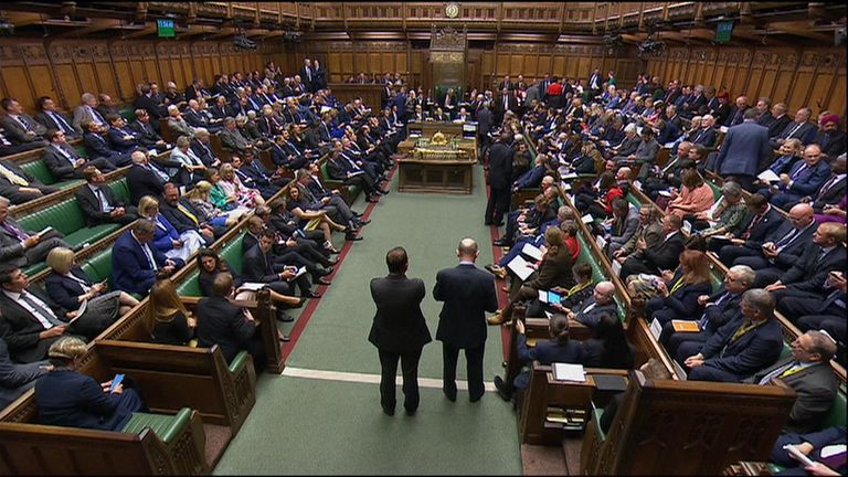 House of Commons resumes