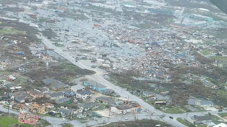 The Abaco Islands weer devastated by Hurricane Dorian. Pic: Terran Knowles/Our News Bahamas