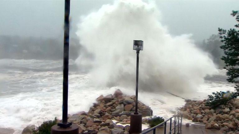 Dorian has brought huge waves to Canada's Atlantic coast