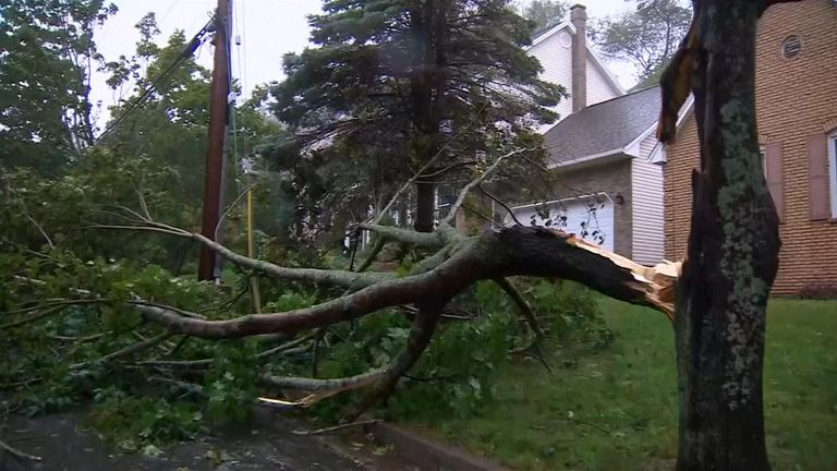 The storm has forced evacuations in parts of Canada most at risk