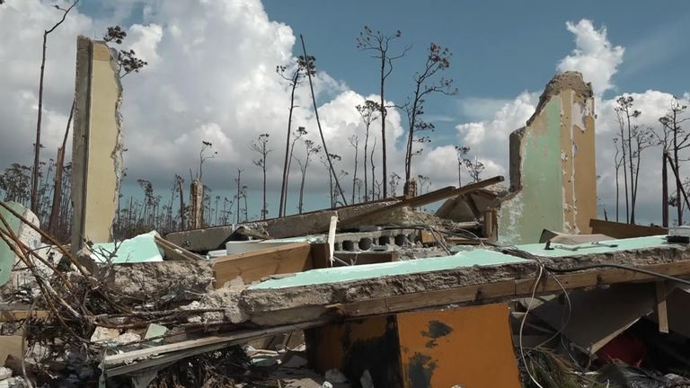 Town of High Rock on Grand Bahama which has been cut off since Hurricane Dorian hit. Walker VT