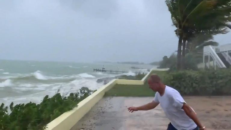 A category 5 hurricane continued its approach to the Bahamas as the country bracing itself for a direct hit
