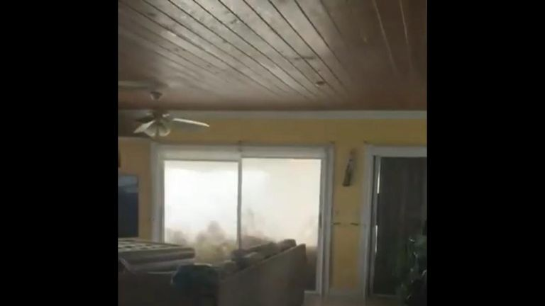 Residents in Freeport, Grand Bahama, were left stranded as Hurricane Dorian brought devastating winds and floods to the area