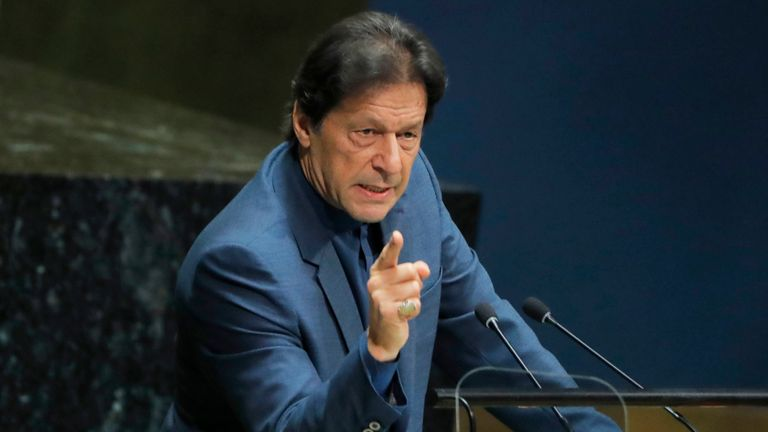 Imran Khan addresses the UN