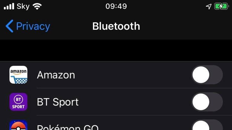 Apps that have asked for Bluetooth permissions can be accessed in the settings of your iPhone