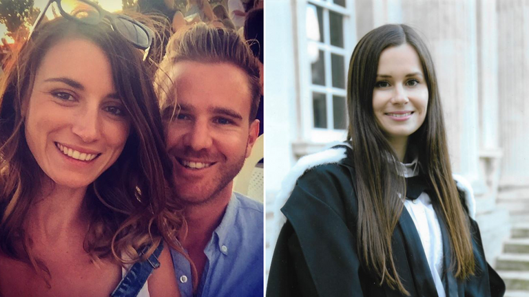 Jolie King and her boyfriend (L) and Kylie Moore-Gilbert (R) are being held in Iran