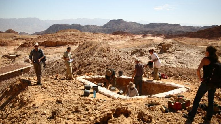 Researchers excavated an ancient copper mine. Pic: E Ben-Yosef and the Central Timna Valley Project