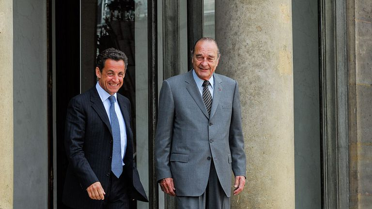 Mr Chirac was replaced by his protege Nikolas Sarkozy in 2005