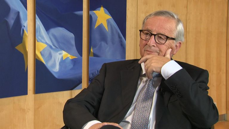 Jean-Claude Juncker speaks exclusively to Sky News