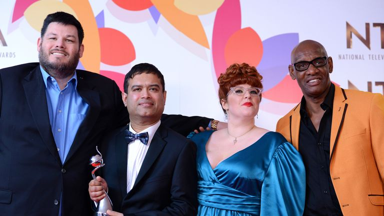The Chase star Jenny Ryan (second from right) is taking part in X Factor: Celebrity