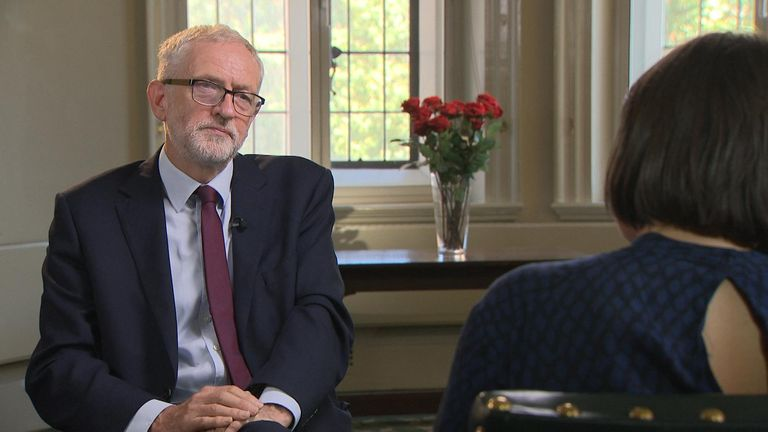 Jeremy Corbyn says he will 'let the people decide' about Brexit