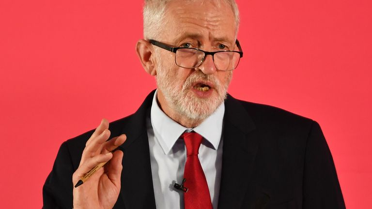 Jeremy Corbyn believes the UK should not leave the EU without a deal