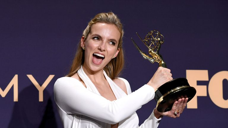 Emmy Awards: Jodie Comer wins best supporting actress in a drama for her role as Villanelle in Killing Eve