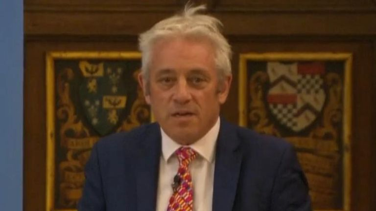 John Bercow launches thinly veiled attack on Boris Johnson's approach to Brexit