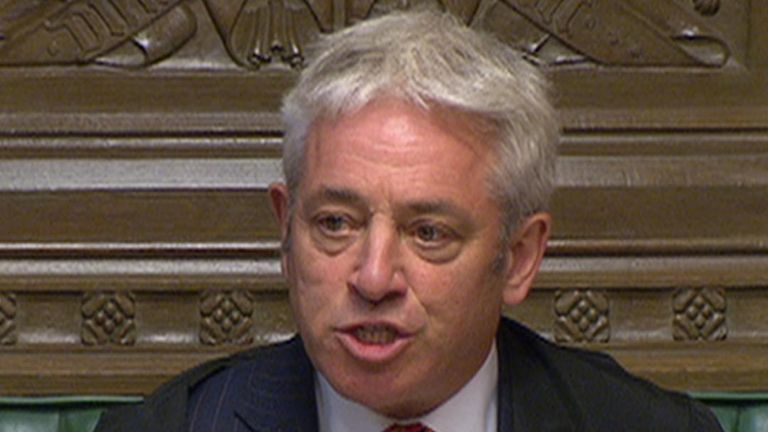 John Bercow returns to work at the resumption of parliament