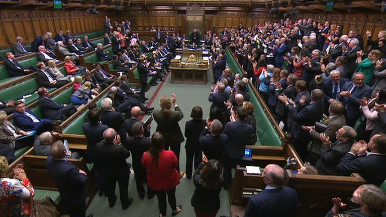 Only a handful of Tory MPs stood to applaud Speaker John Bercow