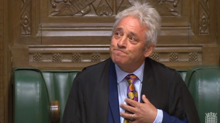 John Bercow has announced he will stand down as Speaker