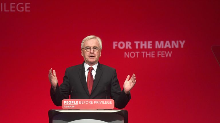 Shadow Chancellor John McDonnell