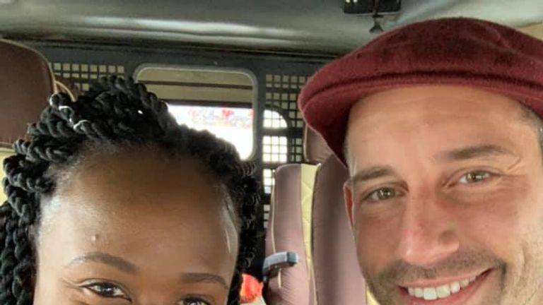 Kesha Antoine and Steven Weber were holidaying in Tanzania before his death. Pic: Facebook/Kesha Antoine
