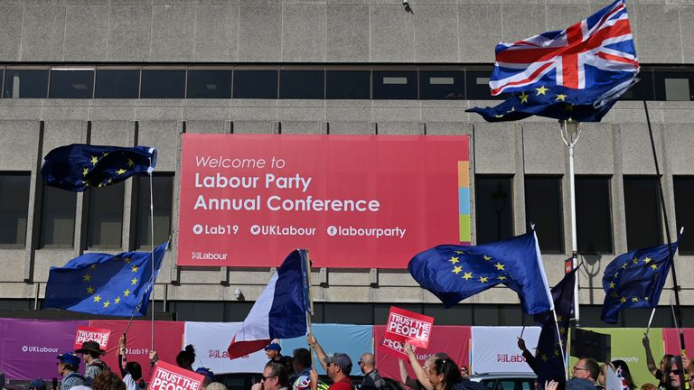 The Labour conference is taking place in Brighton