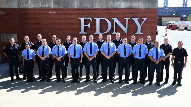 21 legacies joined the department. Pic: NYFD
