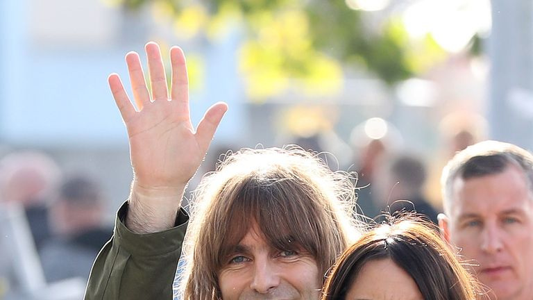 Liam Gallagher and fiancee Debbie Gwyther in 2016