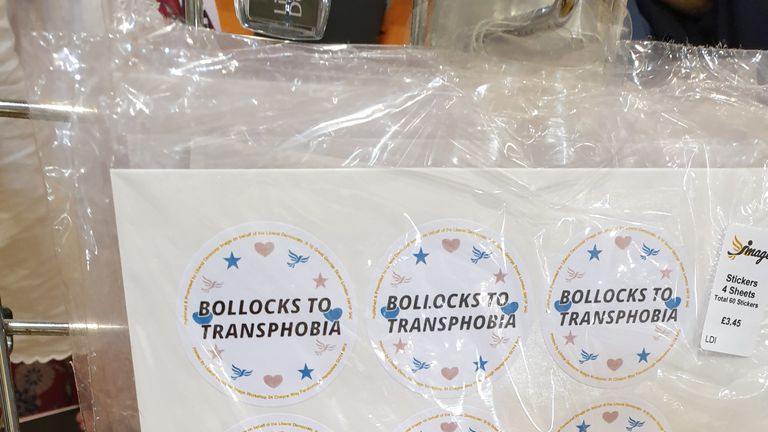 Stickers on sale at Lib Dem conference 2019