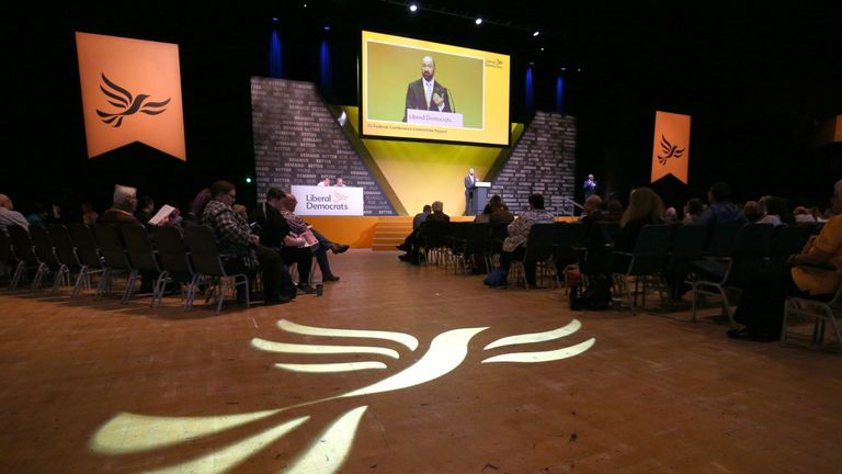 A general view of the opening session during the Liberal Democrats autumn conference at the Bournemouth International Centre in Bournemouth. PA Photo. Picture date: Saturday September 14, 2019. The Liberal Democrats will start the campaign to cancel Brexit entirely when the party meets for its autumn conference on Saturday. See PA story LIBDEMS Main. Photo credit should read: Jonathan Brady/PA Wire