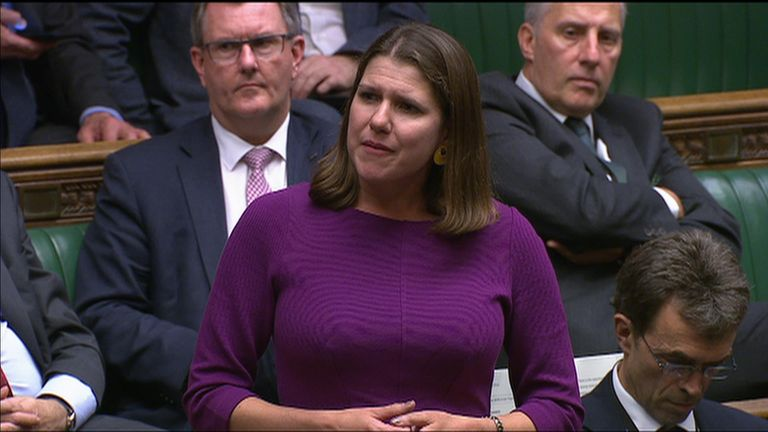 Lib Dem leader Jo Swinson reveals she has reported to police a threat against her son.