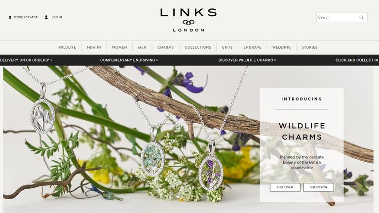 Links of London, jewellery store