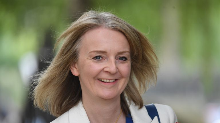 International Trade Secretary Liz Truss in Downing Street in London